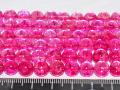 染めクラック水晶 ピンクカラー 8ミリ