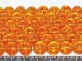 染めクラック水晶 シトリンカラー 10ミリ