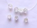 花の彫刻ビーズ 水晶 10ミリ 【bz-carving-crystal-10】【定型外可】