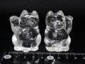 水晶招き猫ペア(小) 約160グラム