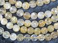 ゴールドルチルクオーツ 縦平ボタン型 12×7ミリ  【bz-goldrutile-button127】【定型外可】