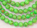 グリーンターコイズ 8ミリ 【bz-greenturquoise-8】【定型外可】