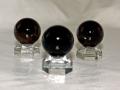 黒水晶(モリオン)  丸玉(台付) 20ミリ 【md-0047】【定型外可】