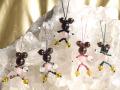 ネズミ型編み込みストラップ (茶水晶バージョン)