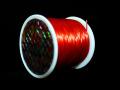 オペロンゴム レッド  約0.8ミリ×80メートル巻