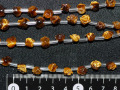 タイガーアイ 薔薇彫刻ビース 約幅8ミリ×6ミリ 【定型外可】