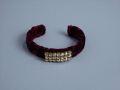 Velvet Cuff Bracelet By Lenora Dame Red MET MTA17