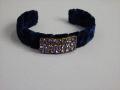 Velvet Cuff Bracelet By Lenora Dame Blue MET MTA19