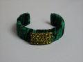Velvet Cuff Bracelet By Lenora Dame Green MET MTA18