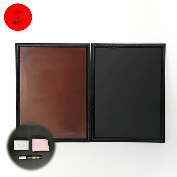 FSM-456 木枠付スチールマーカーボード450X600mm /メニュー/店舗用