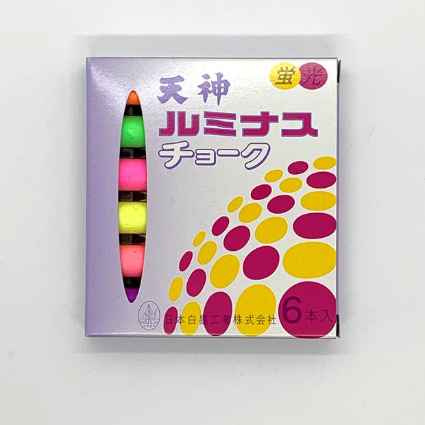 6LS-7 天神 ルミナス 蛍光チョーク (6色セット)/ブラックボード用チョーク/オプション/消耗品