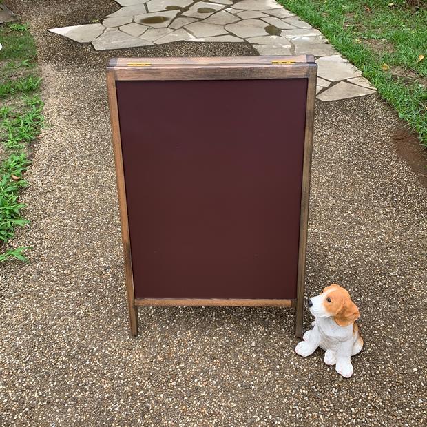 アンティーク風A型ブラウンボード450X600mm/マーカーボード/飲食店・サロン・ショップ/屋内・屋外