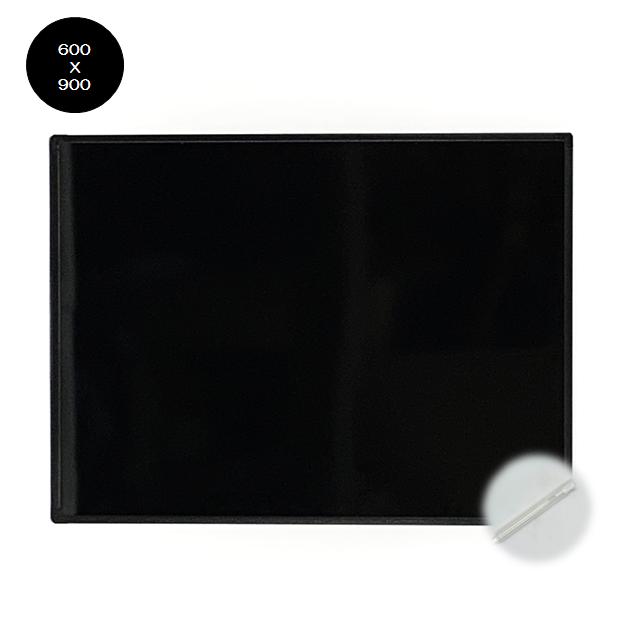 BB-M ブラックボード600X900mm アルミフレーム 無地 光沢板面/パイロットゲルチョーク付