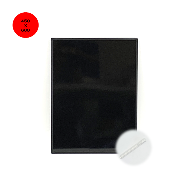 BB-S ブラックボード450*600mm アルミフレーム 無地  つやあり光沢板面/ゲルチョーク付