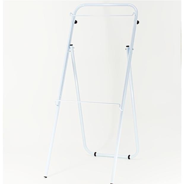CKY-L アプローチスタンドF ホワイト/パネル用スタンド/高さ調整可能/飲食店/ショップ