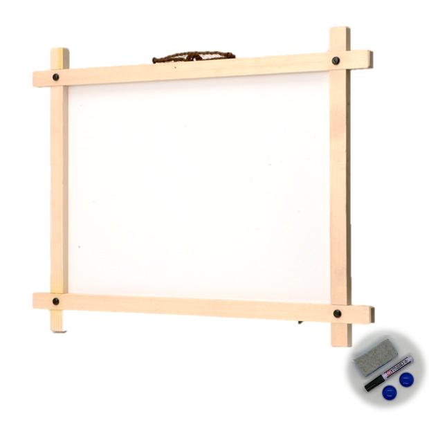FWS-456 和風白木枠付ホワイトボード450X600mm 無地/メニュー/販促