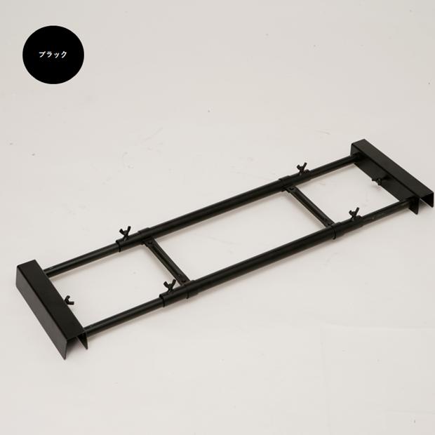 A型看板用タンクトレイ(1個置きタイプ)ブラック/オプション/屋外/転倒防止対策