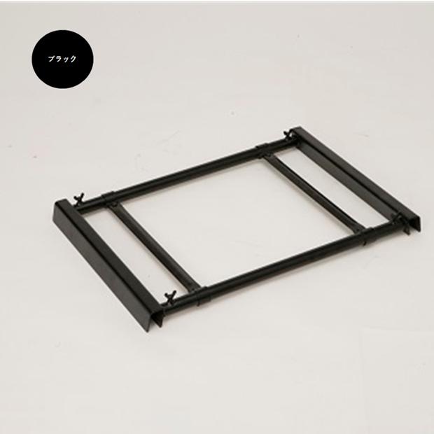 A型看板用タンクトレイ ワイド(2個置きタイプ) ブラック/オプション/屋外/転倒防止対策