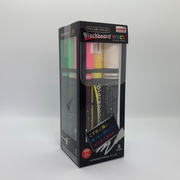 三菱鉛筆 ブラックボードポスカ POSCA 中字丸芯 8色セット/ブラックボードマーカー/オプション/消耗品