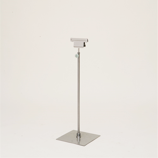 SCS-70 クリップスタンド シルバー/パネル用スタンド/高さ調整可能/飲食店/ショップ