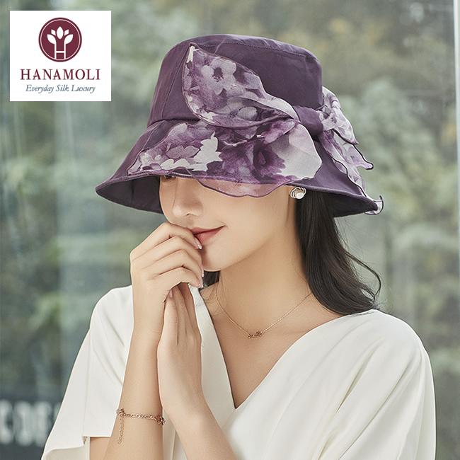 大人コーデにぴったりな【シルク帽子】サイドリボンがフェミニンで小顔効果も【3カラー】