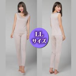 【快適シルク定番インナー】シルクロングパンツLLサイズ 【119-...