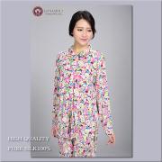 【シルク100%パジャマ】婦人ニットシルク襟付き前開きパジャマ【609】新柄