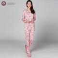 【シルク100%パジャマ】婦人ニットシルク前開きパジャマ【606】