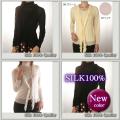 【Silk Quality】うっとりエレガント【シルク100%ガーゼ フリルカーディガン】4カラー