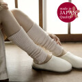 【肌シルク外側コットン】■ 二重レッグウォ-マ-【38cm丈】日本の職人さんが心を込めて作りました。