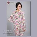 【シルク100%パジャマ】婦人ニットシルク丸首パジャマ【限定商品】609
