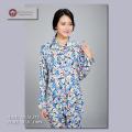 【シルク100%パジャマ】婦人ニットシルク襟付き前開きパジャマ【610】新柄