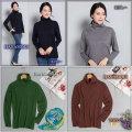 ■シルクウール★ルーズネックでもタートルネックでもOKのセーター【薄くても暖か】シルクを85%まで贅沢に【4カラー】36%OFF