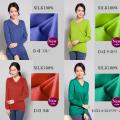 【37%OFF】■貴重なシルク100%Vネックセーター【上品な光沢と鮮やかな色合い】開きすぎない衿がうれしい【ビビットカラー4色】