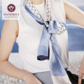 美しい光沢が贅沢なシルクサテン【41%OFF】★絹100%シルクサテン リボンスカーフ【8柄】147X17cm★