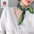 【新柄入荷】★【贅沢な肌触り】【半額】絹100%シルクサテン プチスカーフ【9柄】53cm角★【サテンの光沢が美しい】