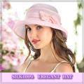 【受賞記念】★透け感がエレガントな【シルクの帽子】紫外線対策にも♪【シェルピンク】