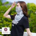 【シルクシフォン】■シルク100%フェイスマスク・マスクとスカーフの合わせ技!ガーデニングやアウトドアにも紫外線対策に