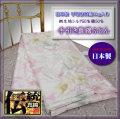 【日本製】表生地裏地とも国産絹交織生地使用■シルク手引き真綿肌ふとん・シングル1kg【ピンク数量限定】