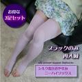 【お得な3足セット】■シルク着圧機能おやすみニーハイソックス(日本製)・・・訳あって約半額【ブラック限定】
