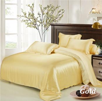 ゴールド 金色の掛布団カバー