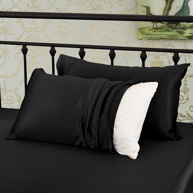 ブラック 黒色の枕カバー