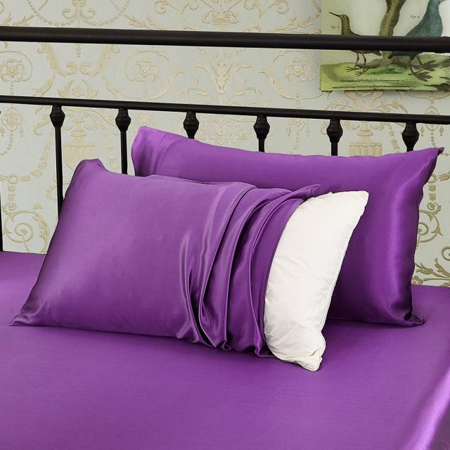 紫 パープルの枕カバー