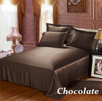 チョコレート 茶色のシルクシーツ