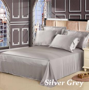 シルバーグレイ 灰色のシルクシーツ