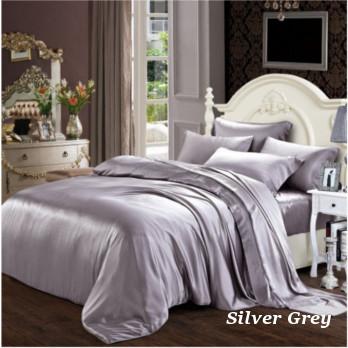 シルバーグレイ 灰色の掛布団カバー