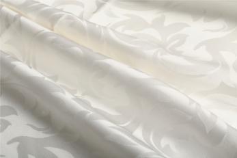 ホワイトジャガード織りシルクシーツ