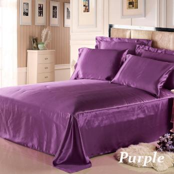 パープル 紫色のシルクシーツ
