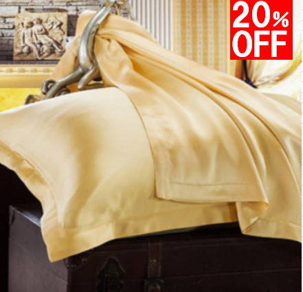 在庫セール シルク枕カバー ピローケース ゴールド 金色
