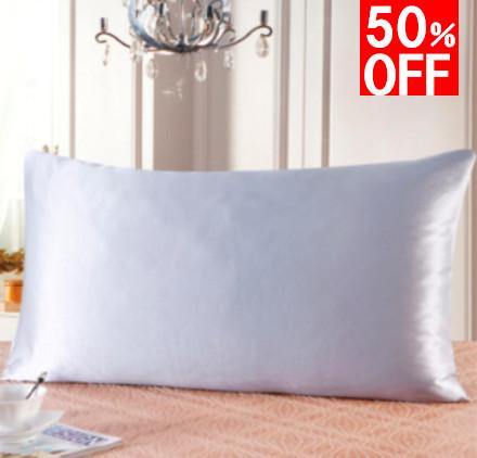 シルバーグレイ 灰色のシルク枕カバー セール商品